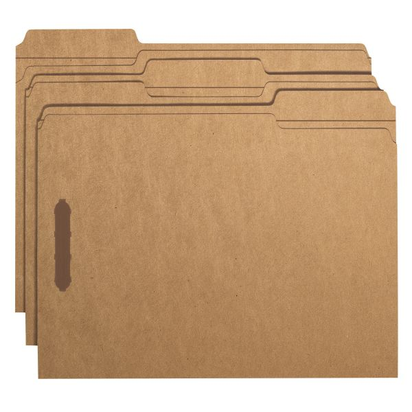 Smead Kraft File Folders With Fasteners
