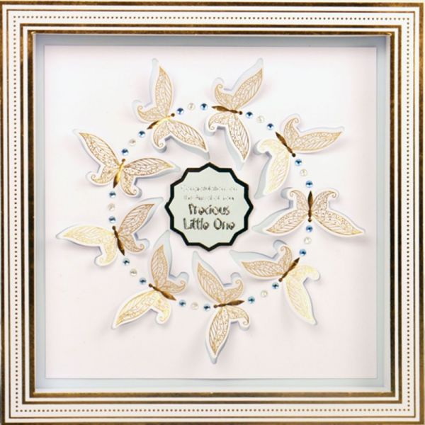 "Hunkydory Shadow Box Frame Cards Kit 7""X7"""