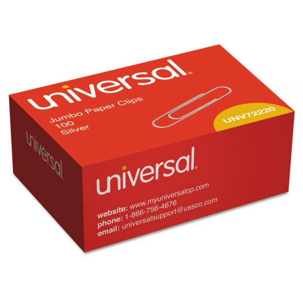 Universal Jumbo Smooth Paper Clips