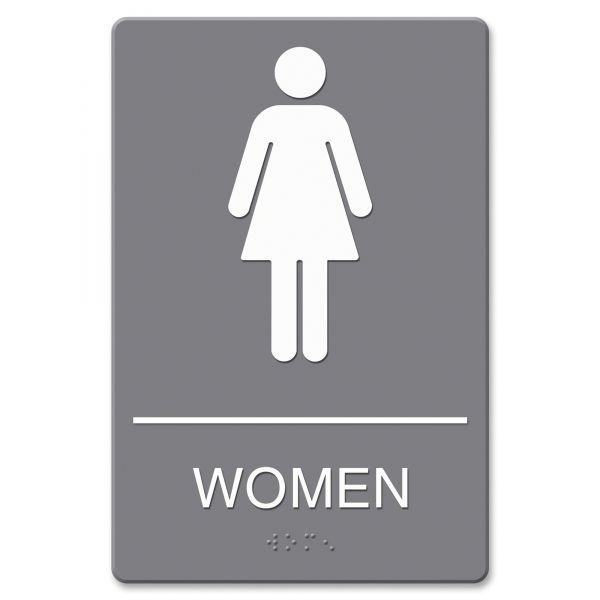 """Headline Signs """"Women"""" Restroom Sign"""