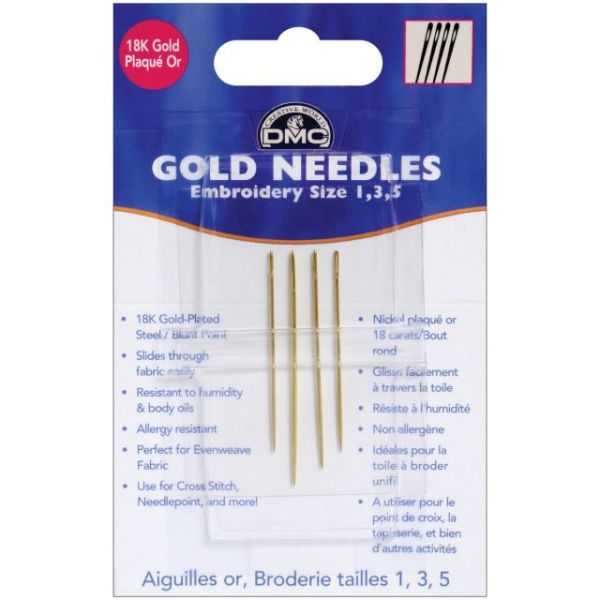 DMC Gold Embroidery Hand Needles