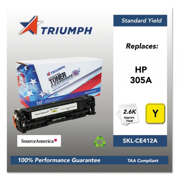 Triumph Remanufactured HP 305A (CE412A) Toner Cartridge