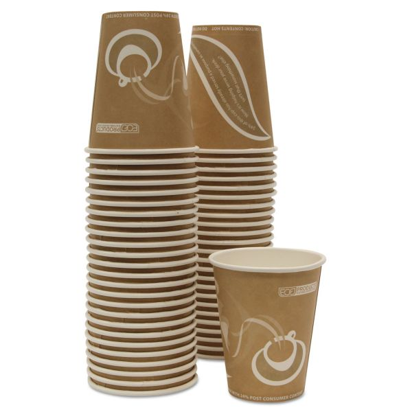 Eco-Products Evolution World 24% Recycled Content Hot Cups Convenience Pack - 8oz., 50/PK
