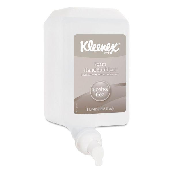 Kleenex Alcohol-Free Foam Hand Sanitizer, 1,000 ml, Clear, 6/Carton