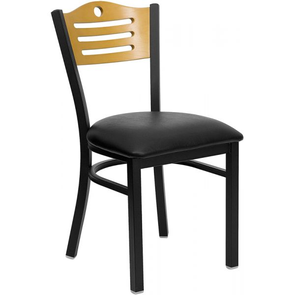 Flash Furniture Slat Back Metal Restaurant Chair
