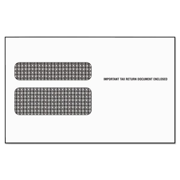 TOPS Double Window Tax Form Envelope for W2 Laser Forms, 5 5/8 x 9, 50/Pack