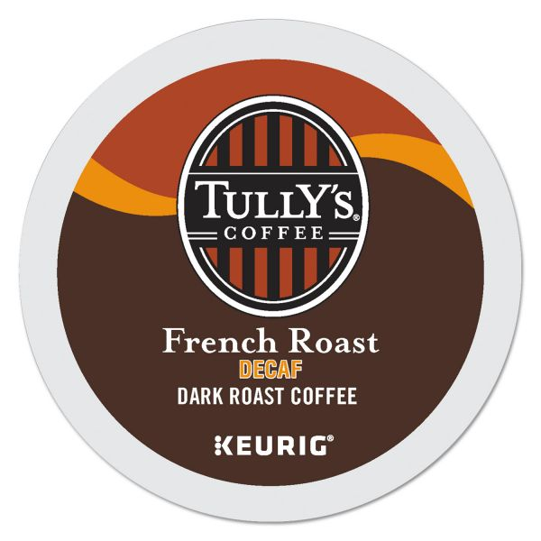 Tully's Coffee French Roast Decaf Coffee K-Cups, Dark Roast, 96/Carton
