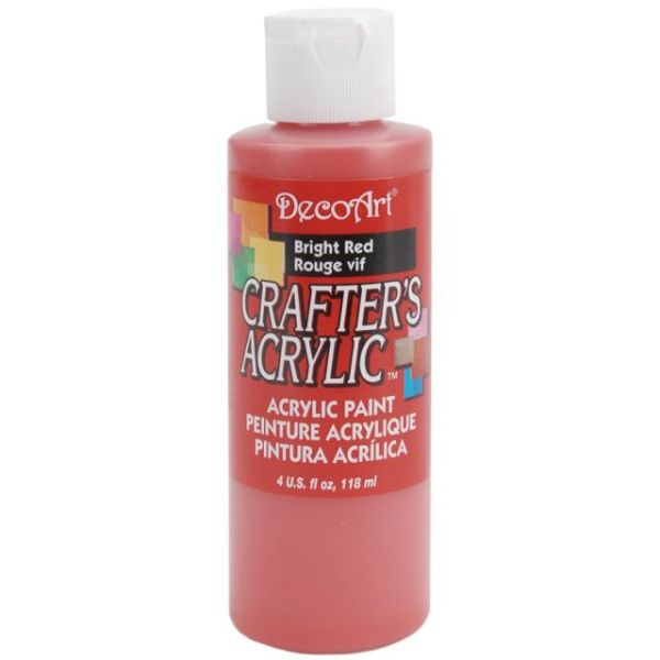 Deco Art Crafter's Acrylic Bright Red Acrylic Paint