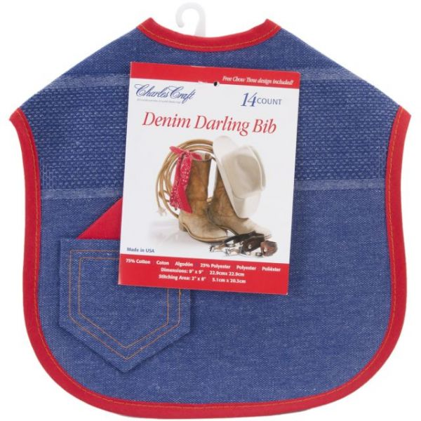 "Denim Darling Baby Bib 14 Count 9""X9"""
