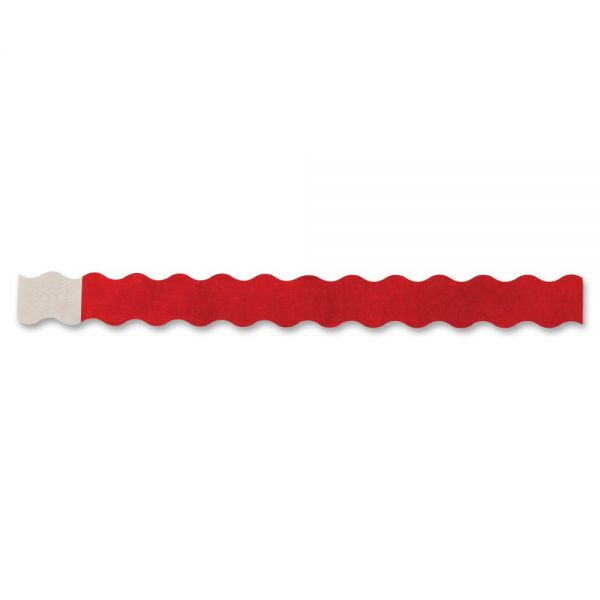 Wristbands Wavy Red 100/pack