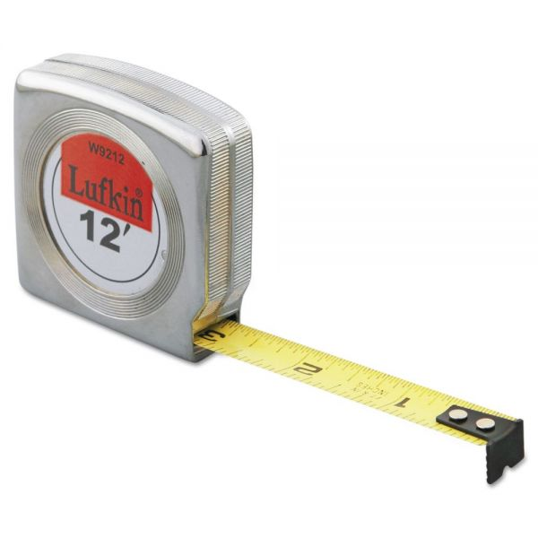 Lufkin Mezurall Measuring Tape, 1/2in x 12ft, Yellow
