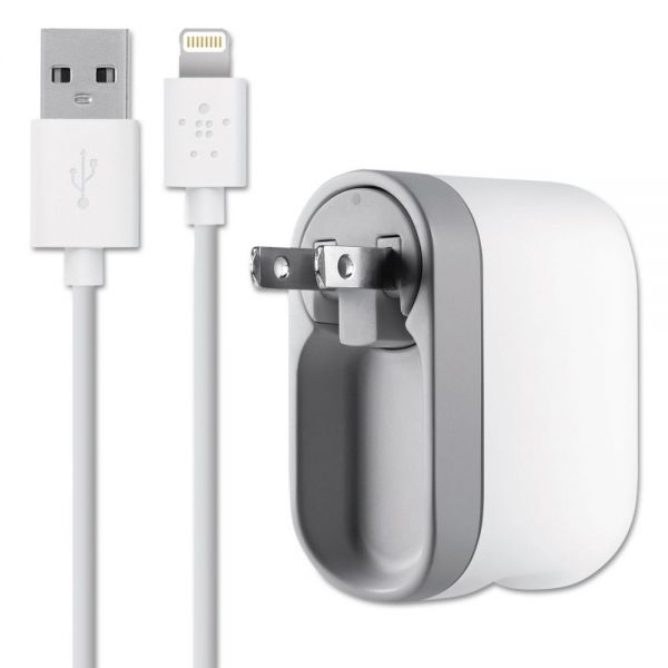 Belkin Swivel Charger, 2.1 Amp Port, Detachable Lightning Cable