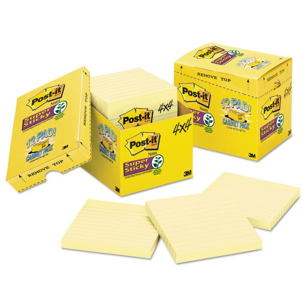 Post-it Super Sticky Ruled/Lined Notes