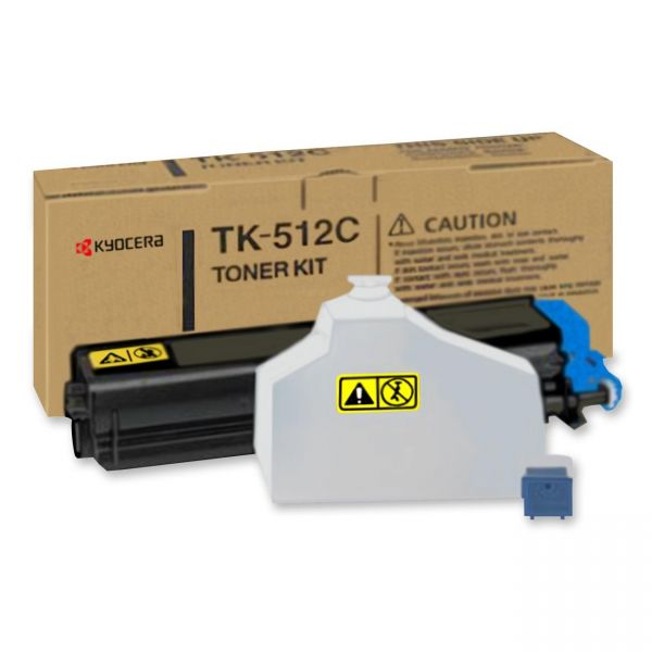 Kyocera TK-512C Cyan Toner Cartridge