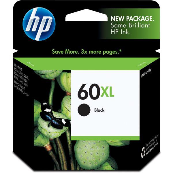 HP 60XL High Yield Black Ink Cartridge (CC641WN)
