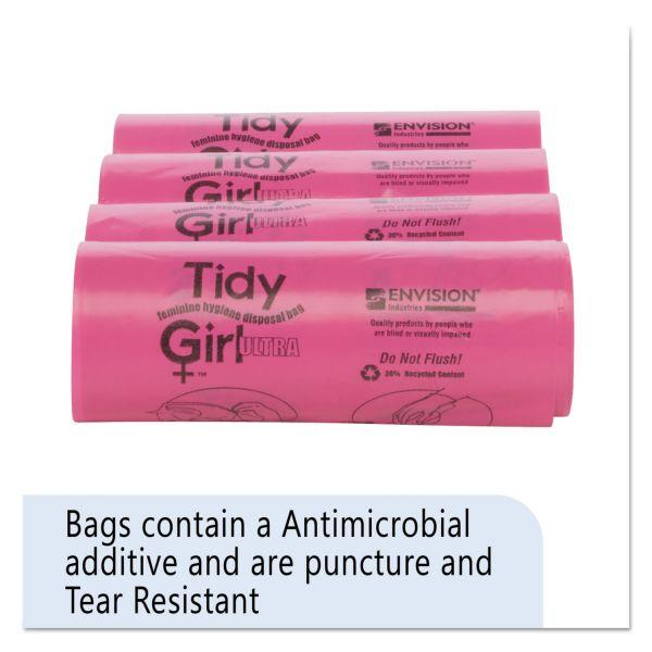 Tidy Girl Tidy Girl Feminine Hygiene Sanitary Disposal Bags, 150/Roll, 4 Rolls/Carton