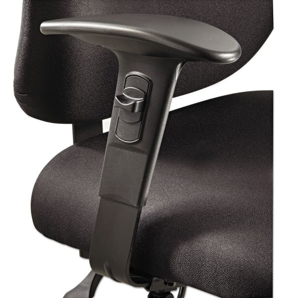 Safco Height/Width-Adjustable T-Pad Arms for Alday 24/7 Task Chair, Black, 1 Pair
