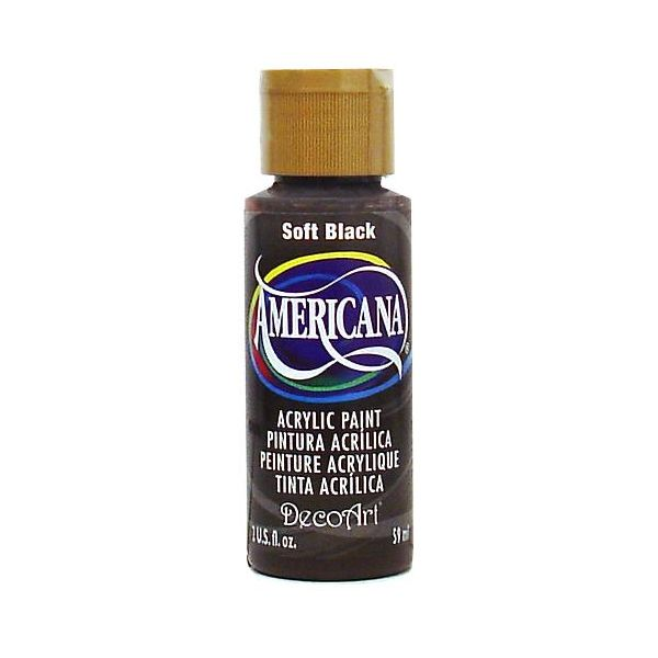 Deco Art Soft Black Americana Acrylic Paint