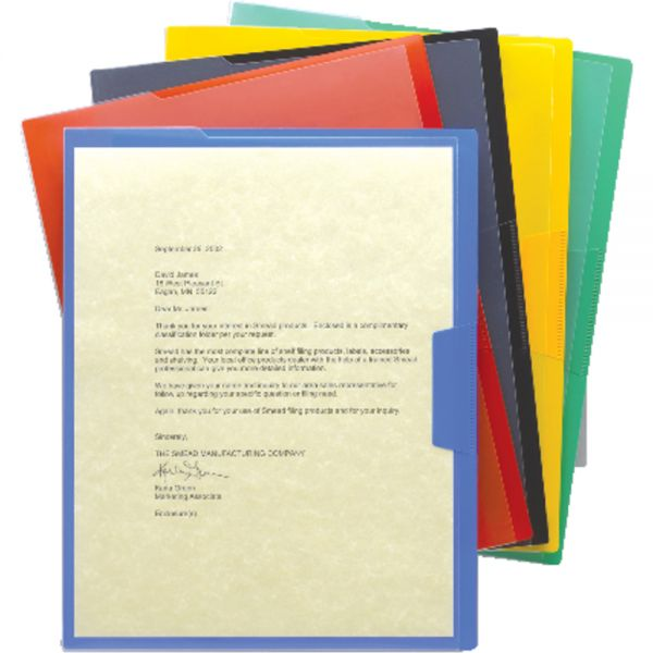 Smead 85740 Assortment Poly Opaque Project Jackets