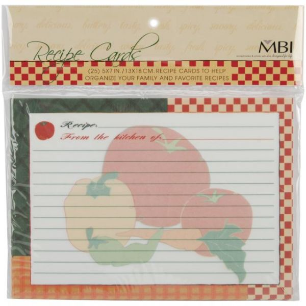 Recipes Additional Cards 25/Pkg