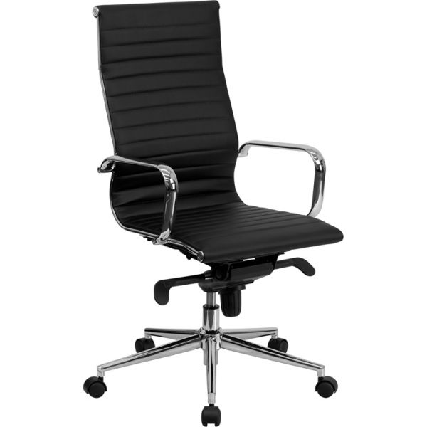 Flash Furniture High Back Leather Executive Swivel Office Chair [BT-9826H-BK-GG]