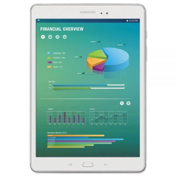 "Samsung Galaxy Tab A 9.7"" Tablet with S Pen, 16 GB, Wi-Fi, Smoky Titanium"