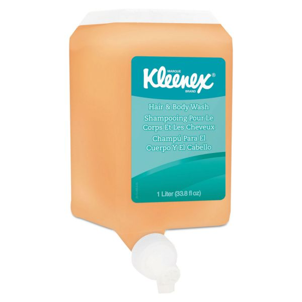 Kleenex Hair & Body Wash, Citrus Floral, 1000mL Bottle, 6/Carton