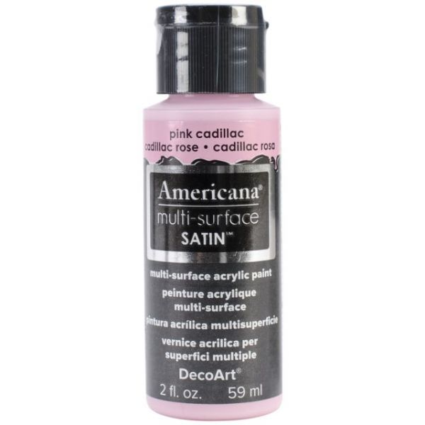 Deco Art Pink Cadillac Americana Multi-Surface Satin Acrylic Paint