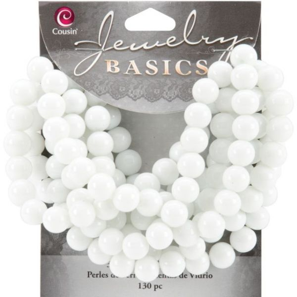 Jewelry Basics Glass Beads 8mm 130/Pkg