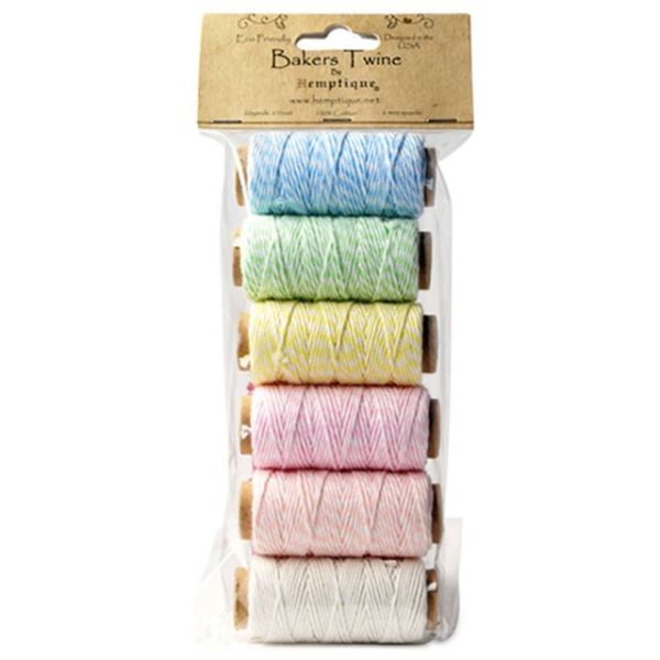 Cotton Baker's Twine Mini Spool Set 2-Ply 65'