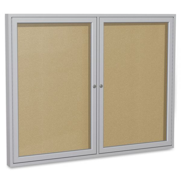 Ghent 2-Door Enclosed Vinyl Bulletin Board
