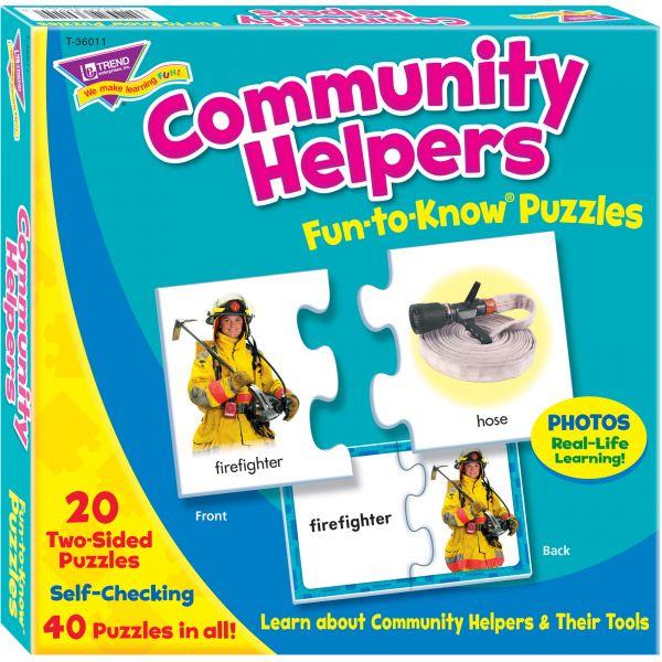 Trend Community Helpers Alphabet Puzzle Set
