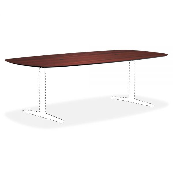 Lorell Knife Edge Mahogany Rectangular Conference Tabletop