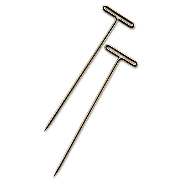 "GEM T-Pins, Steel, Silver, 1 1/2"", 100/Box"