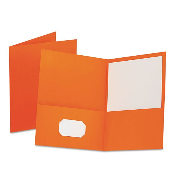 Esselte Orange Two Pocket Folders