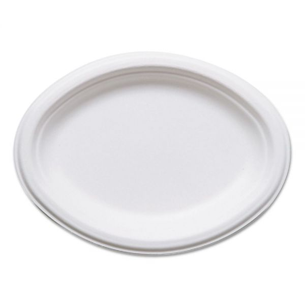 Eco-Products Renewable & Compostable Oval Sugarcane Plates