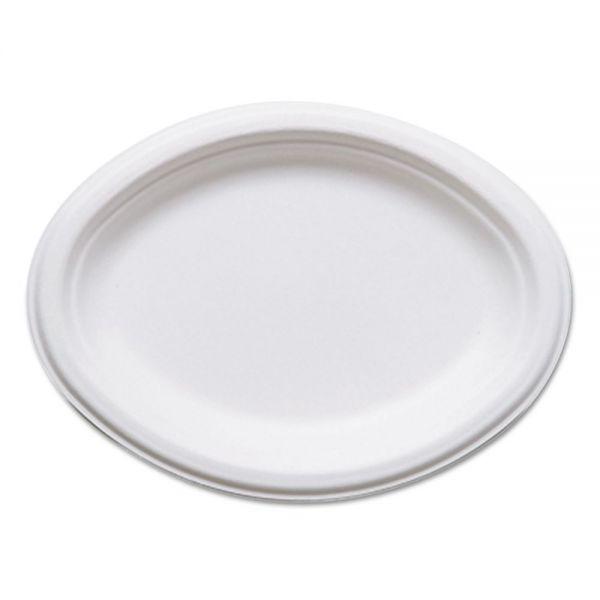 Eco-Products Renewable & Compostable Oval Sugarcane Plates