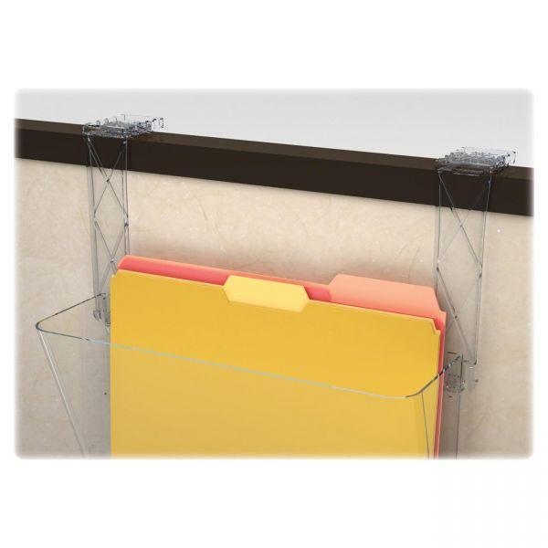 deflecto Plastic Partition Brackets Break Resistant-Clear