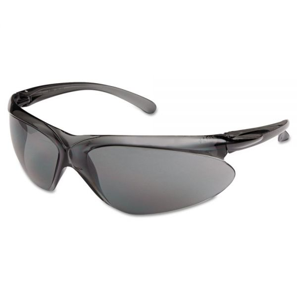 Honeywell A400 Series Safety Glasses, Gray Frame, Gray Lens, Polycarbonate