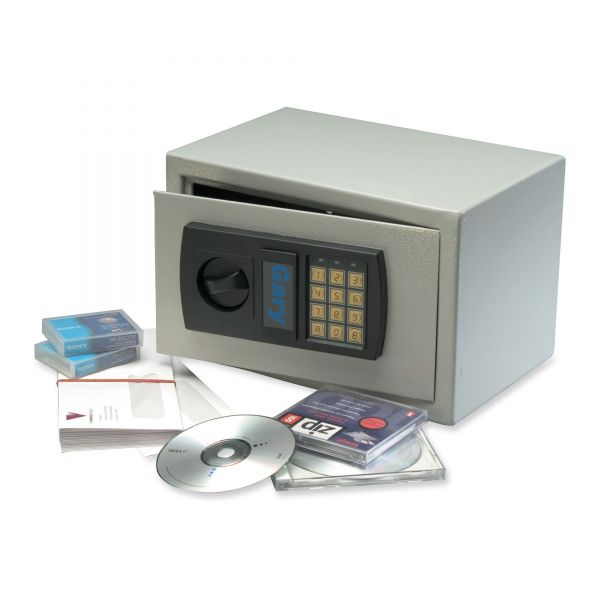 Gary Personal Electronic Safe w/Bolt Kit, 19lbs, .3 Cu. Ft., Gray