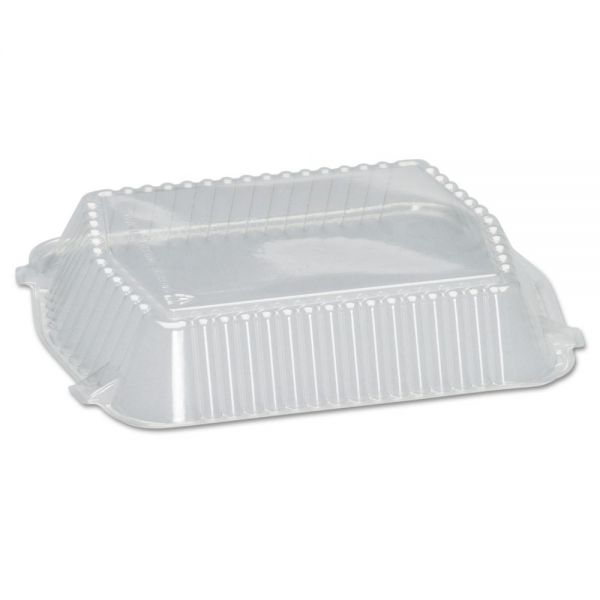 Genpak Snap-On Plastic Dome Square Takeout Container Lids