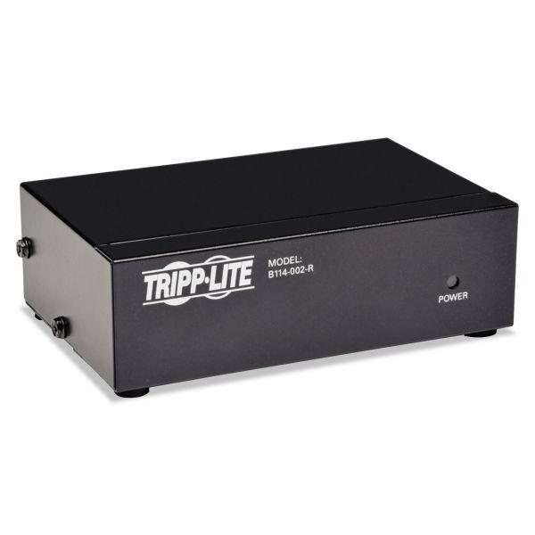 Tripp Lite Video Splitter, VGA/SVGA, 2-Port Signal Booster, HD15 Ports