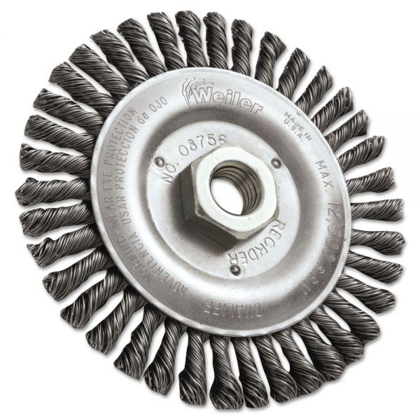 "Weiler Dualife STB-538 Stringer Bead Twist Knot Wire Wheel, 5"" dia"