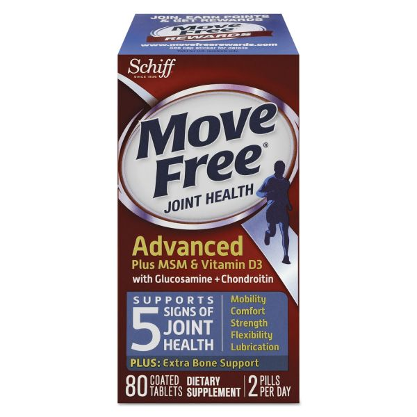 Move Free Advanced Plus MSM & Vitamin D3 Total Joint Health Tablets