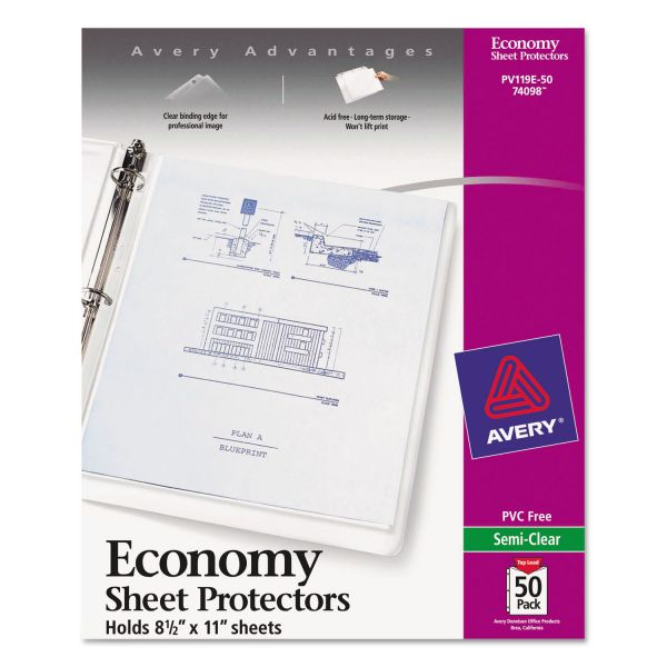 Avery Top Loading Non-Glare Sheet Protectors