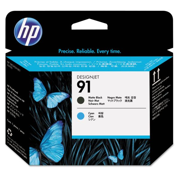 HP 91 Matte Black/Cyan Printhead (C9460A)