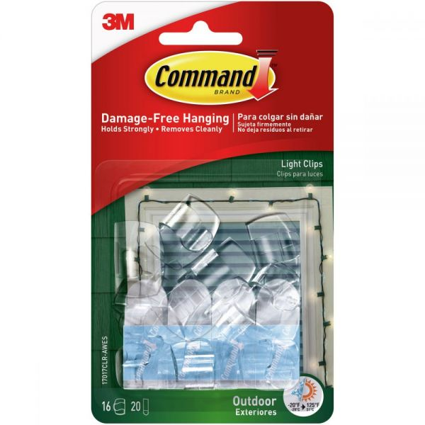 Command Outdoor Light Clip 16/Pkg