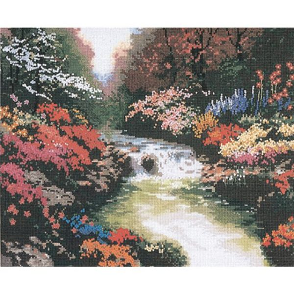 Thomas Kinkade Beside Still Waters Counted Cross Stitch Kit