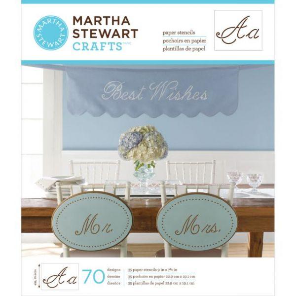 Martha Stewart Large Paper Stencils 35/Pkg