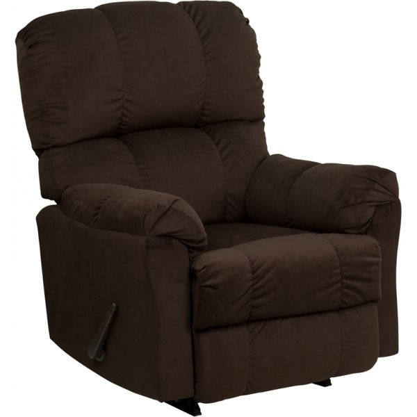 Flash Furniture Contemporary Top Hat Chocolate Microfiber Rocker Recliner